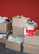Boxes and documents causing fire hazards